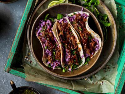 Pulled lamb taco